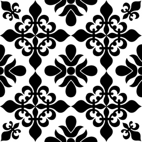 French Black & White Tile - XLG