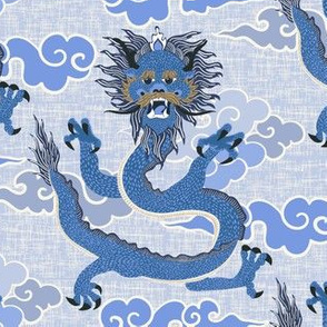 Dragon - blue/large scale