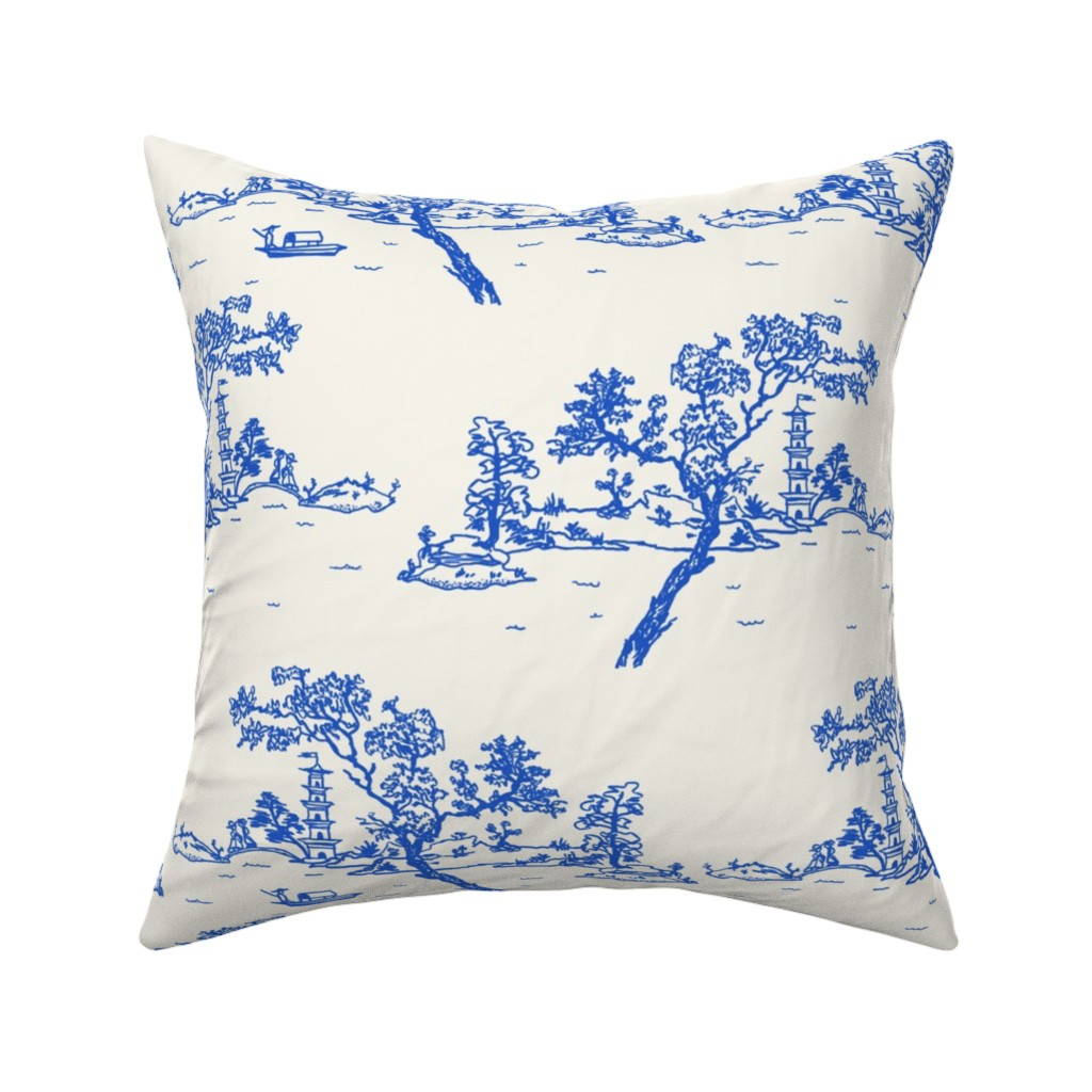 Catalan Throw Pillow featuring China scene with boat by Su_G_©SuSchaefer by su_g
