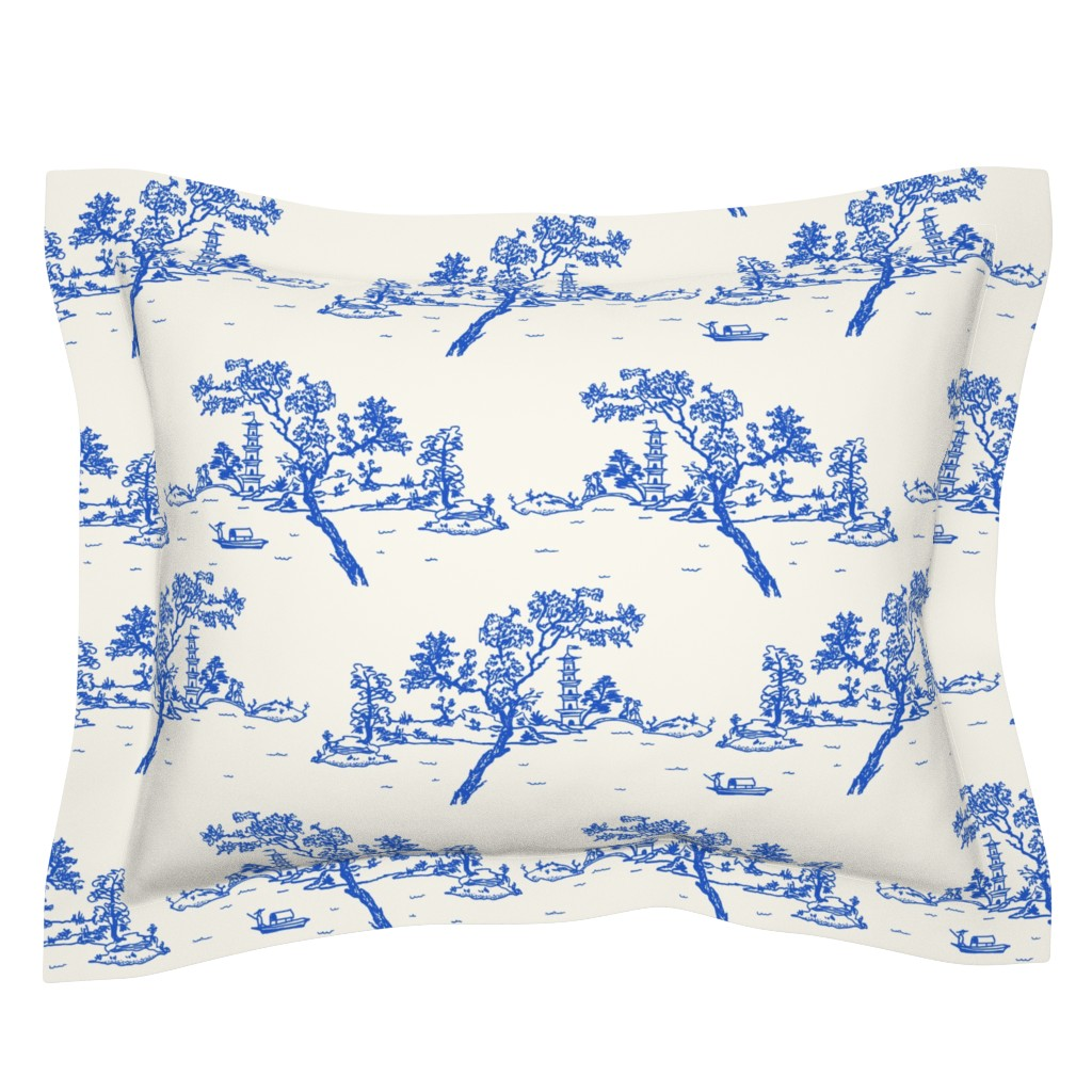 Sebright Pillow Sham featuring China scene with boat by Su_G_©SuSchaefer by su_g