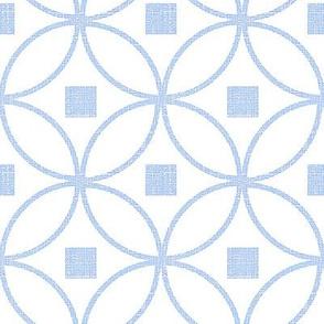 Circle Lock Pattern, Modern Chinoiserie