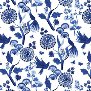 blue chinoiserie