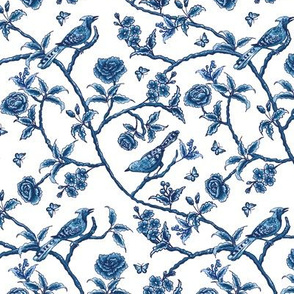 Chinoiserie asian birds