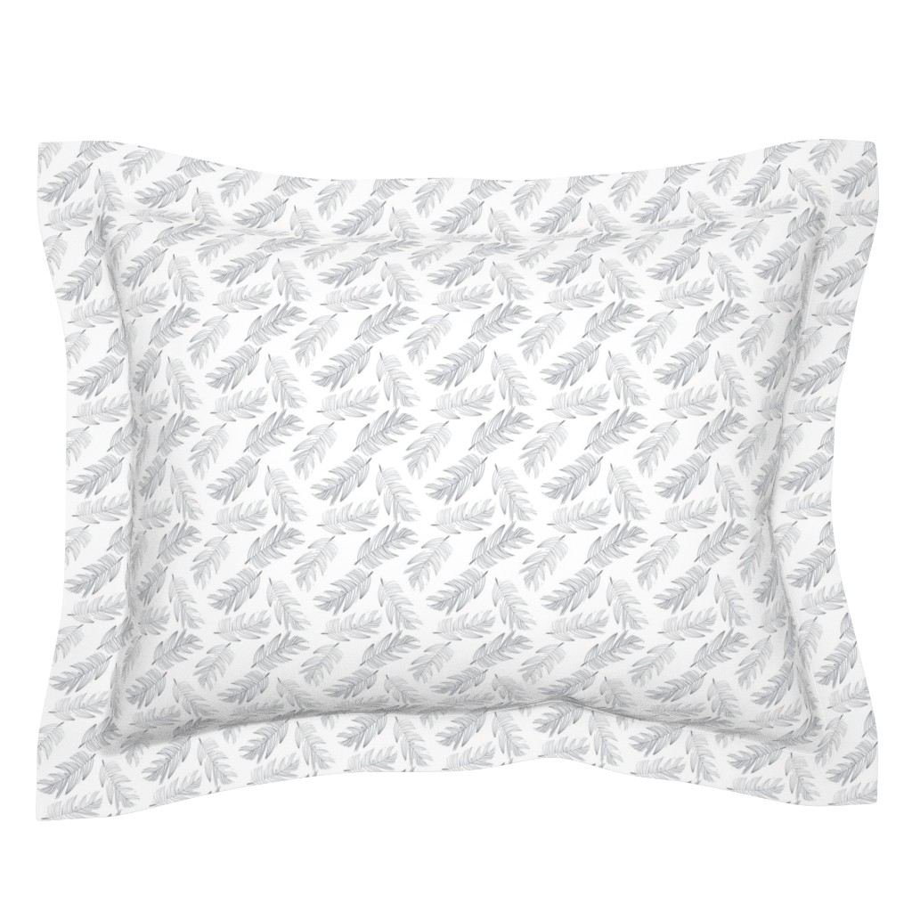 Sebright Pillow Sham featuring Large Palms by colettegorgas
