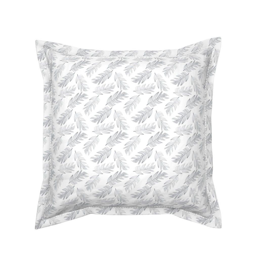 Serama Throw Pillow featuring Large Palms by colettegorgas
