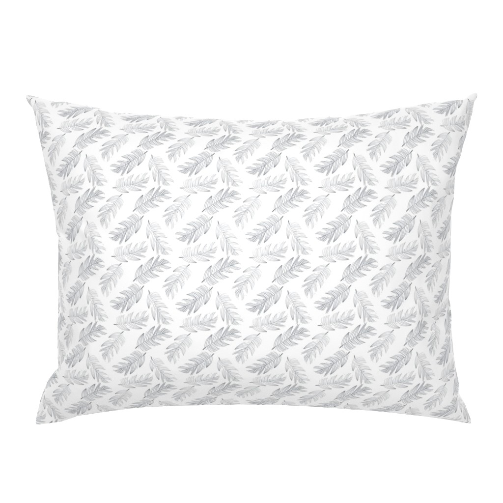 Campine Pillow Sham featuring Large Palms by colettegorgas