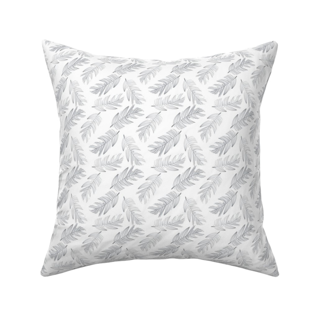 Catalan Throw Pillow featuring Large Palms by colettegorgas