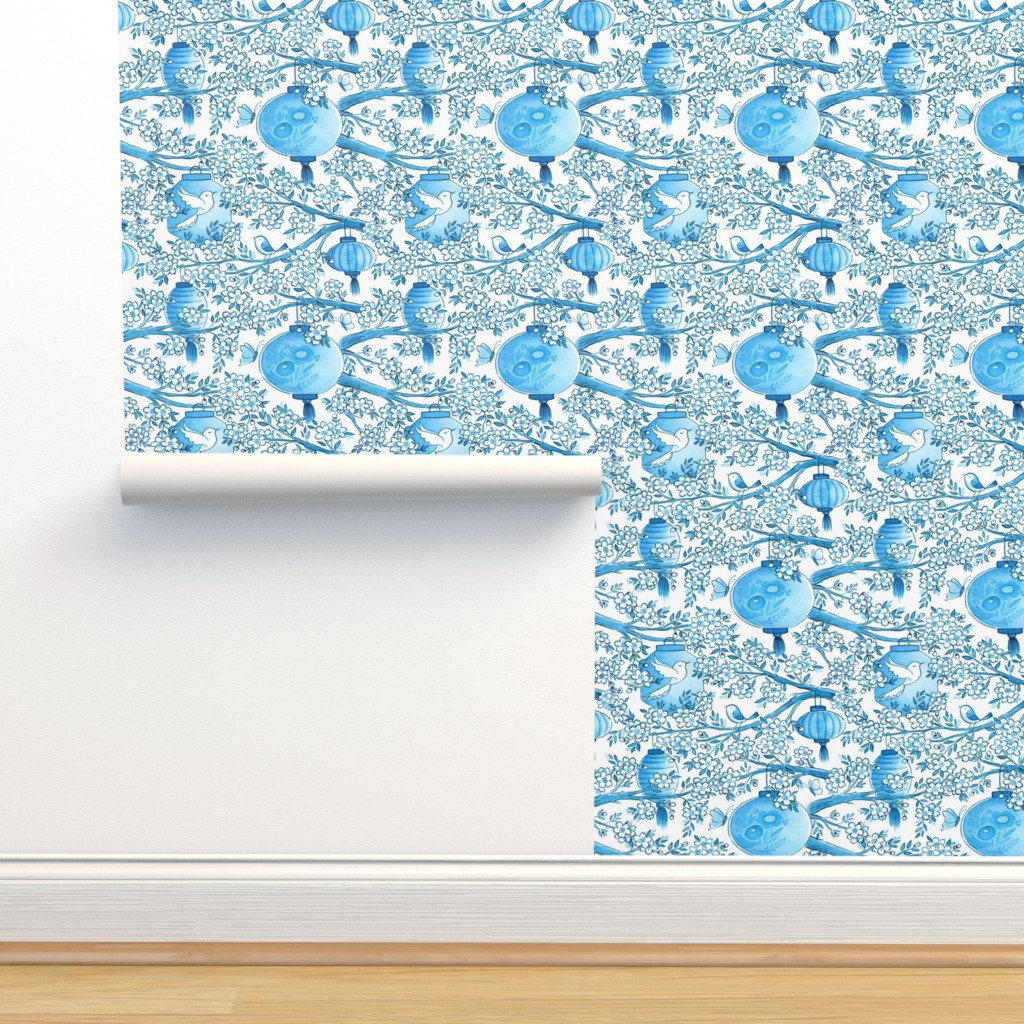 Isobar Durable Wallpaper featuring lanterns by lauralogan
