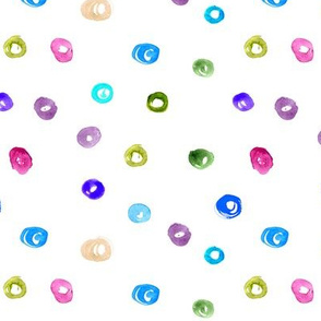 Watercolot polka dot || colorful pattern for nursery