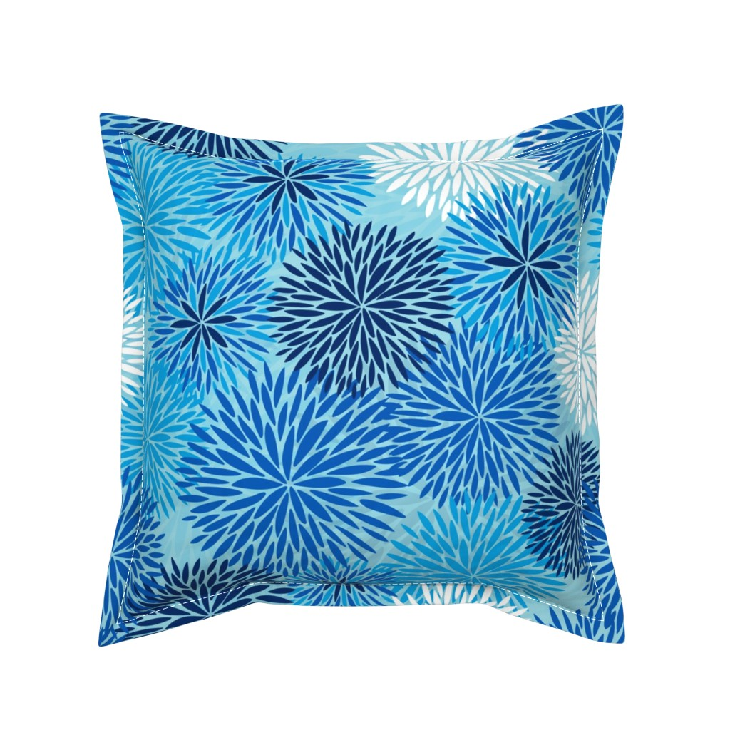 Serama Throw Pillow featuring Flowers Of Life (large scale) by cleolovescolor