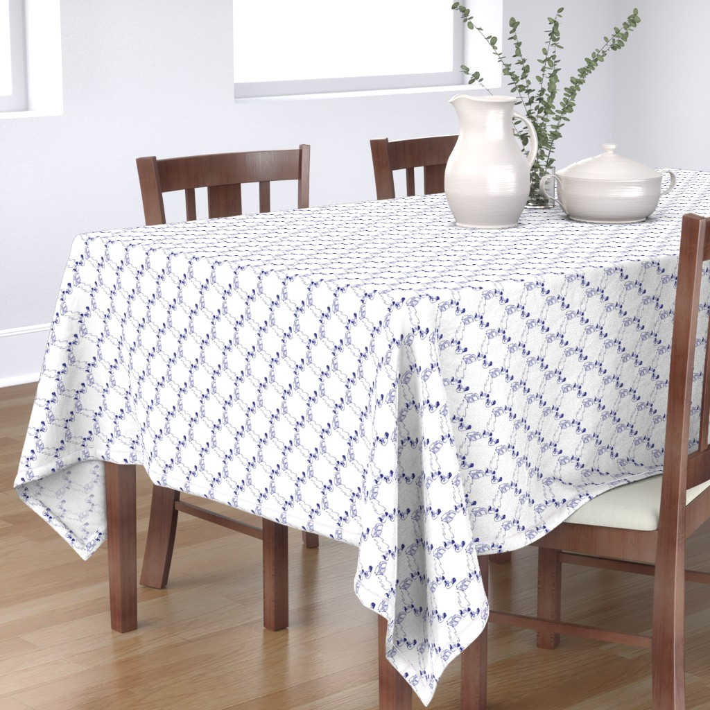 Bantam Rectangular Tablecloth featuring Little Brother Unplugged by autumn_musick