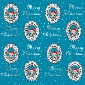 CHIHUAHUA christmas fabric