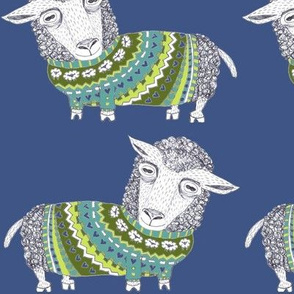 8156539-sheep-fair-isle-knitted-sweater-large-scale-blue-cerulean-teal-olive-green-lime-turquoise-chartr-by-amy_g
