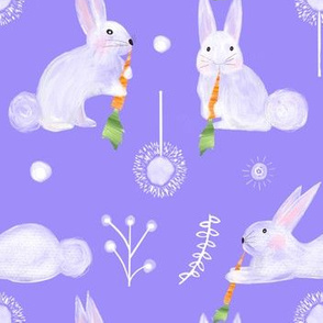 Colette's large scale bunnies purple