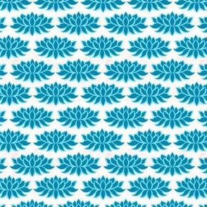 Blue lotus on white