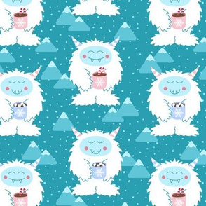 Yetis Sipping Hot Cocoa