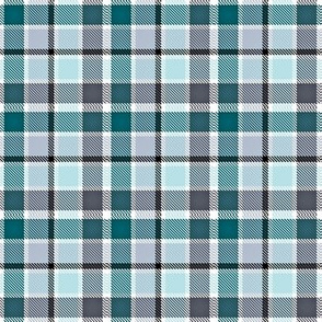 Plaid in Green Silver Black White and Gray