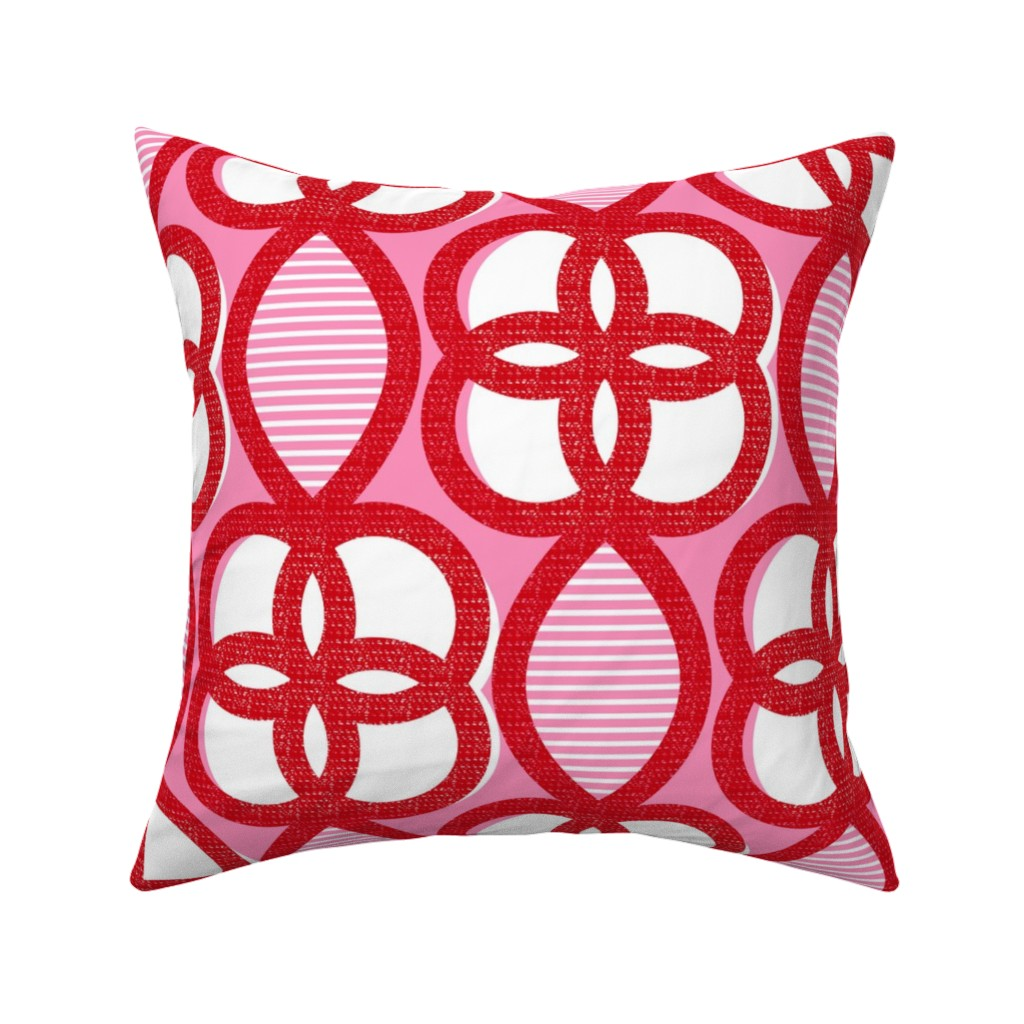 Catalan Throw Pillow featuring Chinese Lattice-mid century modern by ottomanbrim