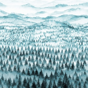 WALDEN - forest and mountains - 3 yards high!