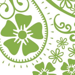 Paisley Greenery Jumbo
