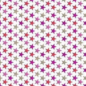 pink red stars