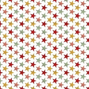 red green pink stars