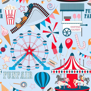 Fun Fair (Pale Blue)