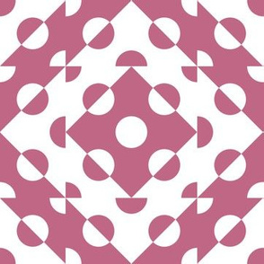 Mosaic Modernism (Circles - Malaga pink)