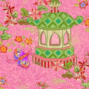 chinoiserie -pink