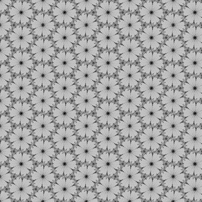 Dotty flowers in grey