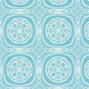 Monochrome kaleidoscope design