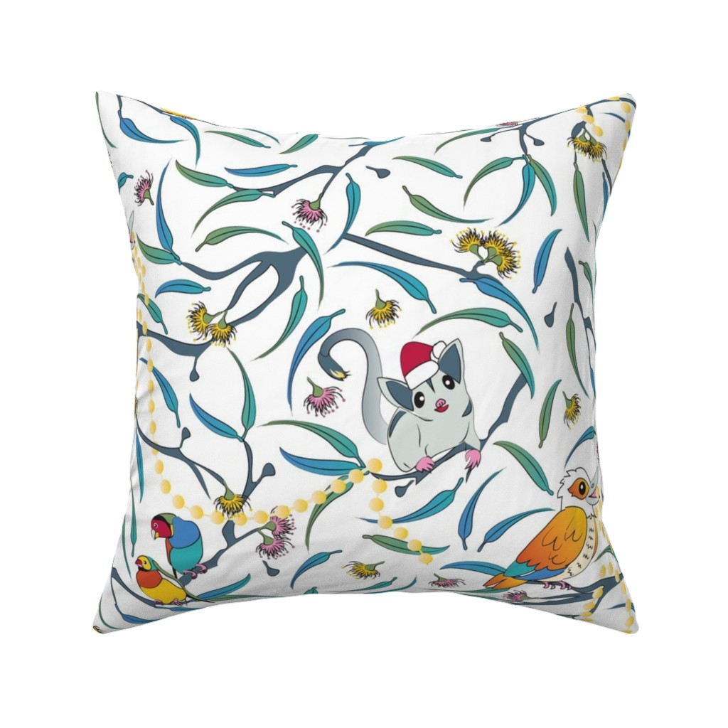 Catalan Throw Pillow featuring Summer Christmas under the Gum Trees by colour_angel_by_kv