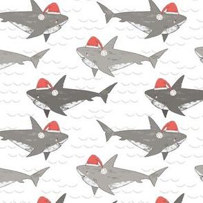 Christmas Shark Attack, novelty Christmas, cute sharks, christmas sharks