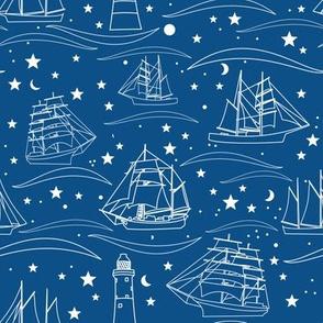Sailing Ships - blue
