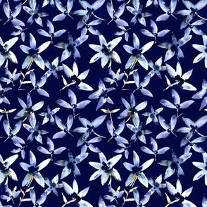 Anemones on ultramarine