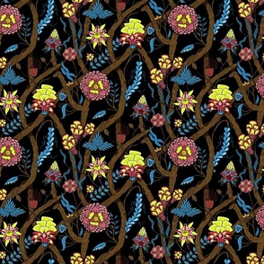 indian floral on black v3