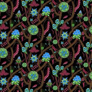 indian floral on black v4