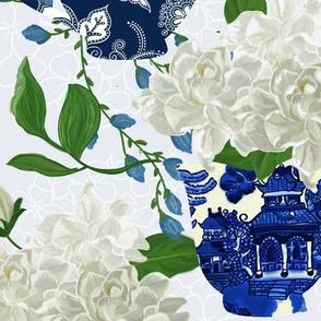 BLUE WILLOW CHINOISERIE whisper blue