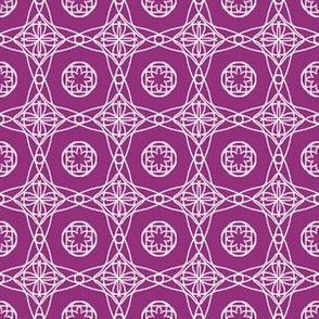 Plum and White Ornate Tiles