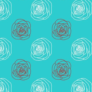 Mod Chalkline Rose | Retro Festive