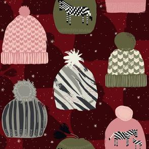 Knitted Zebra Beanie