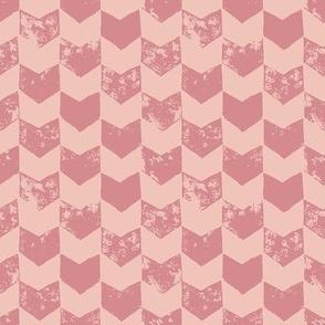 Pink distressed chevron
