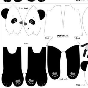 PANDA FLEECE BEAR, style # 1005