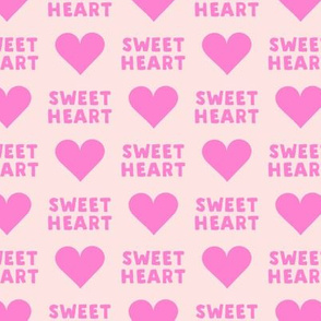 sweet heart - valentines- pink on pink
