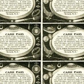 We Buy Used False Teeth 1918 ad