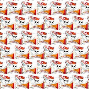 Pirate Flags in Orange and White