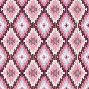 Earthen Kilim, pink clay
