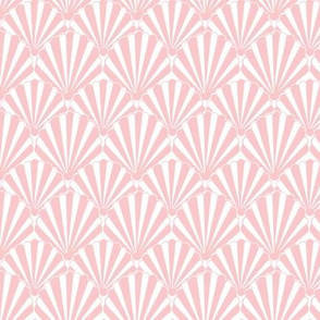 Art Deco Pattern // Pink shell, Art deco fan, scallop
