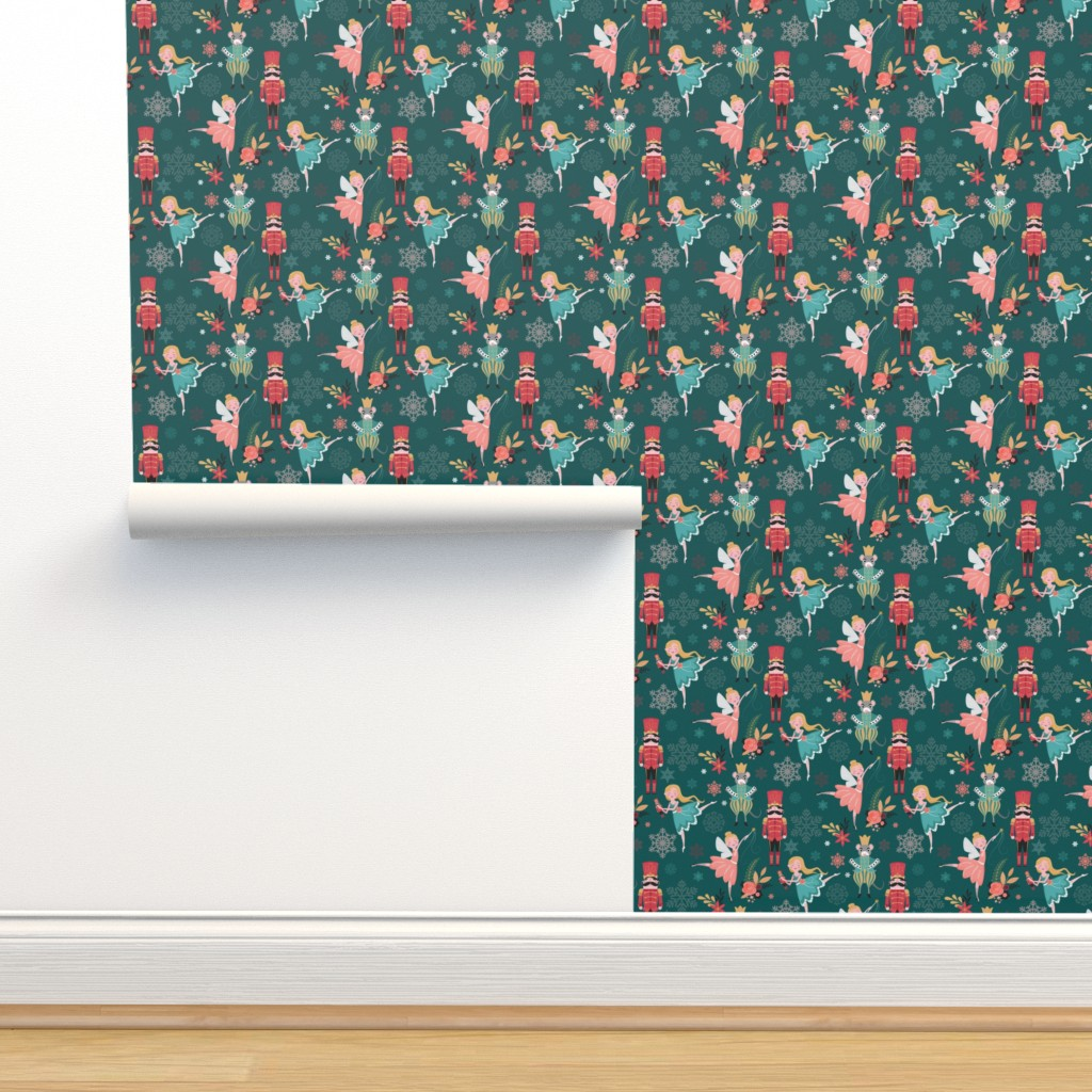 Isobar Durable Wallpaper featuring nutcracker ballet larger scale by michaelzindell