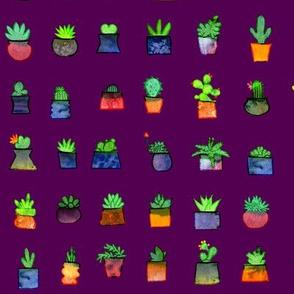 Happy Little Plants - purple variant